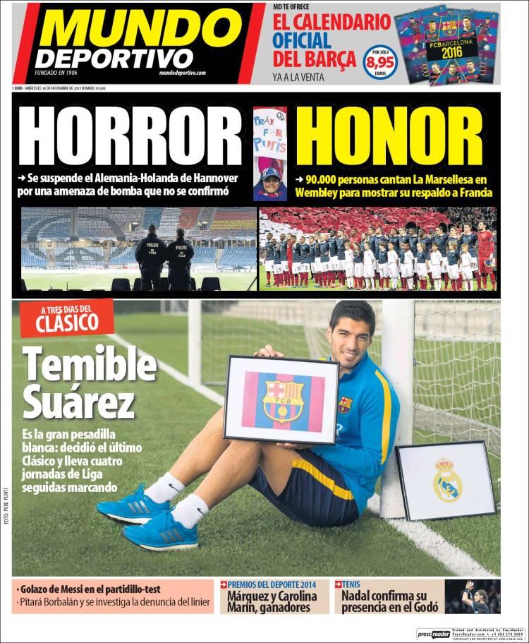 روزنامه های اسپانیا/ چهارشنبه 18 نوامبر