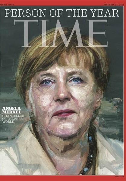 آنگلا مرکل شخصیت سال مجله تایم شد