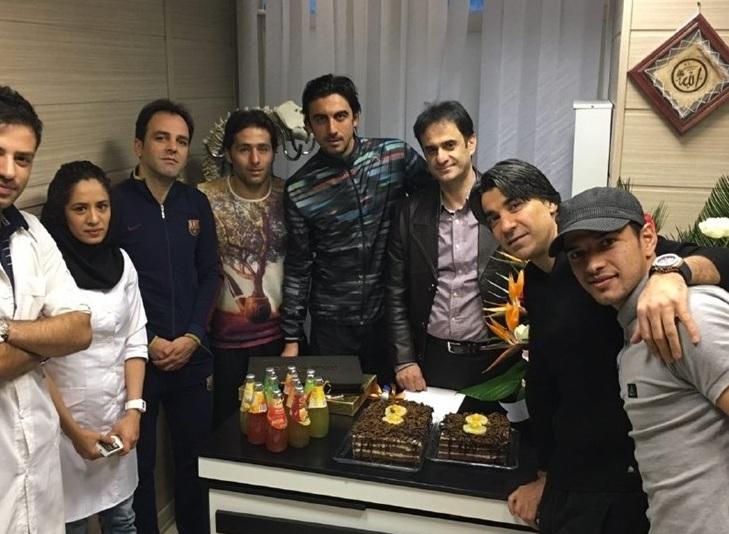 رحمتی و شمسایی درجشن تولد دکتر معروف فوتبالی ها + عکس