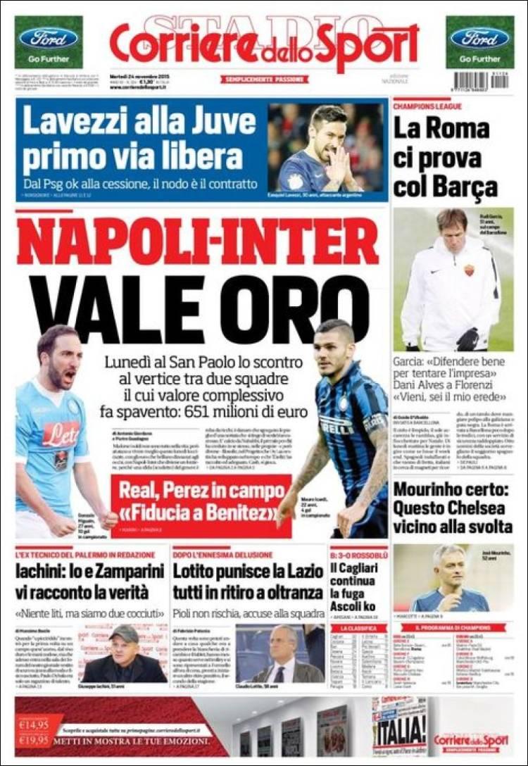 روزنامه های ایتالیا/ سه شنبه 24 نوامبر