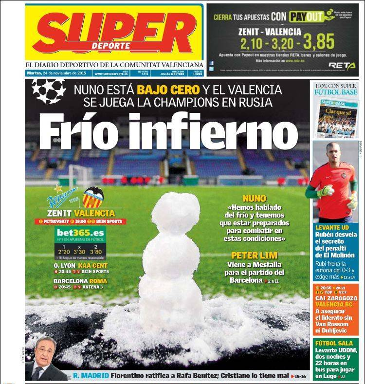روزنامه های اسپانیا/ سه شنبه 24 نوامبر