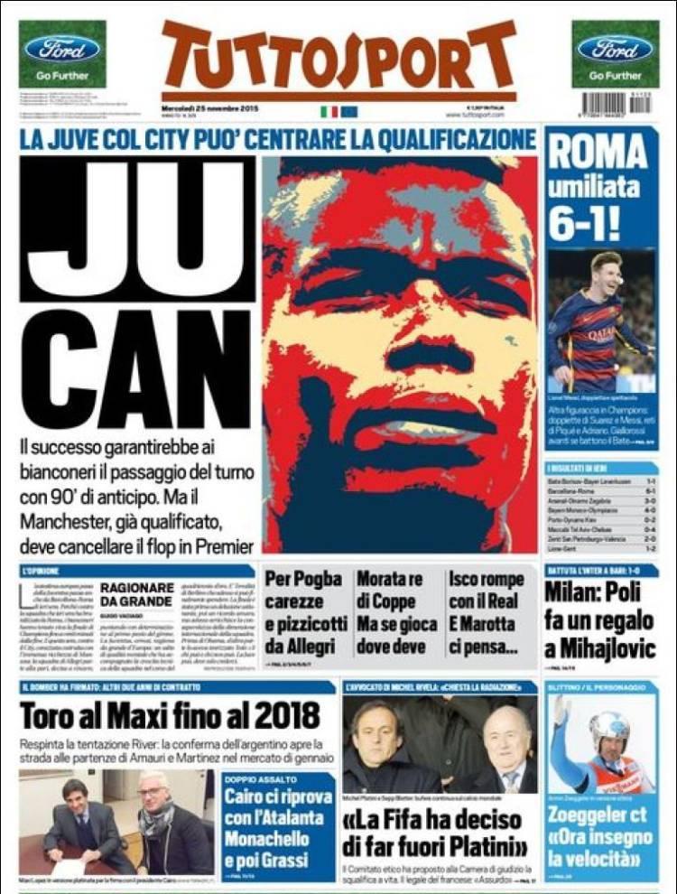 روزنامه های ایتالیا/ چهار شنبه 24 نوامبر