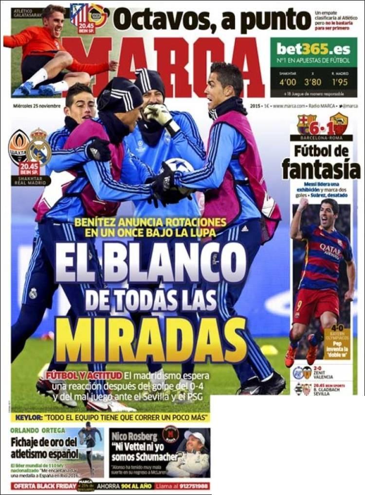 روزنامه های اسپانیا/ چهار شنبه 24 نوامبر