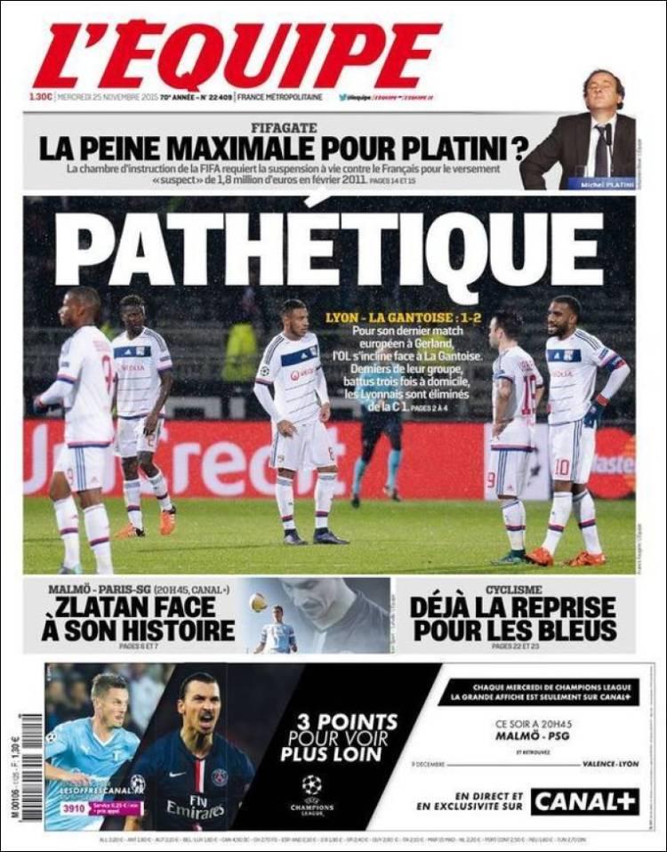روزنامه های اکیپ فرانسه/ چهار شنبه 24 نوامبر