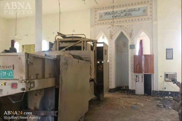 مخفی کردن خودرو نظامی داعش در مسجد!