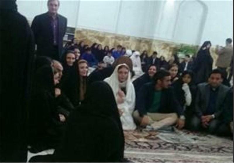 عقد رسمی قوچان نژاد با خواهر بازیگر سینما در حرم امام رضا(ع)+ تصویر