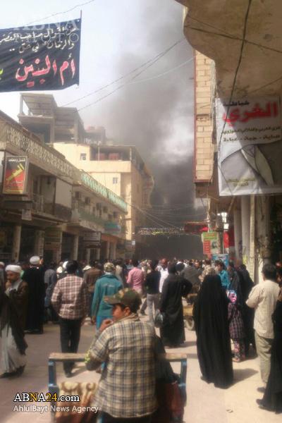 انفجار کپسول گاز نزدیک حرم امام علی(ع)