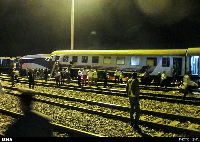خارج شدن قطار دورود - مشک از ریل