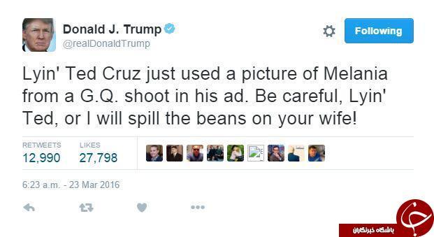 افشاگری ناموسی دونالد ترامپ علیه تد کروز