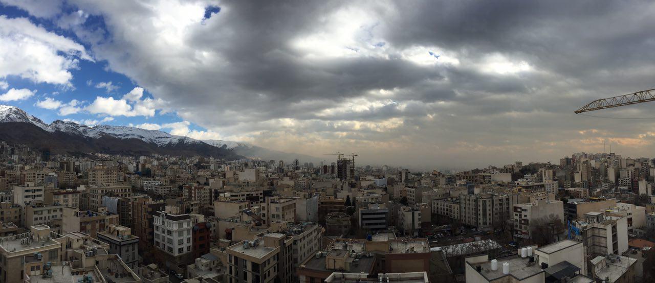 وزش باد تهران و جابجايي الودگي هوا