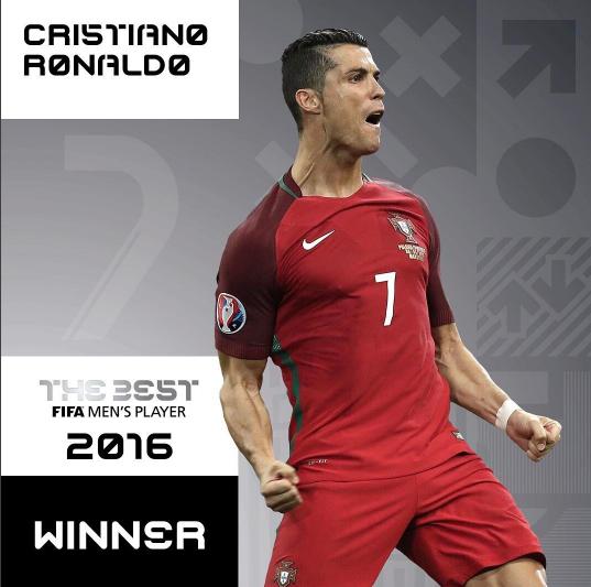 رونالدو بهترین بازیکن جهان در سال 2016