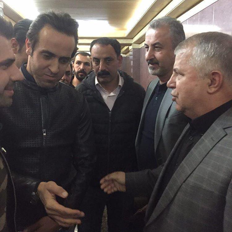 دیدار علی دایی و علی کریمی با پروین درمجلس ختم