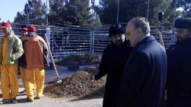 حضور وزیر ورزش در مراسم تشییع شهدای آتش نشان/عکس