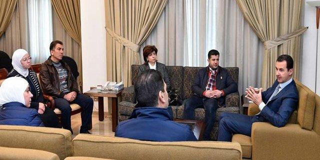 پخش تصاویر اسد از تلویزیون پس از شایعات روزهای اخیر