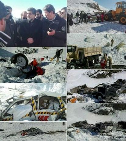اعزام سگ های زنده یاب به محل بهمن هراز