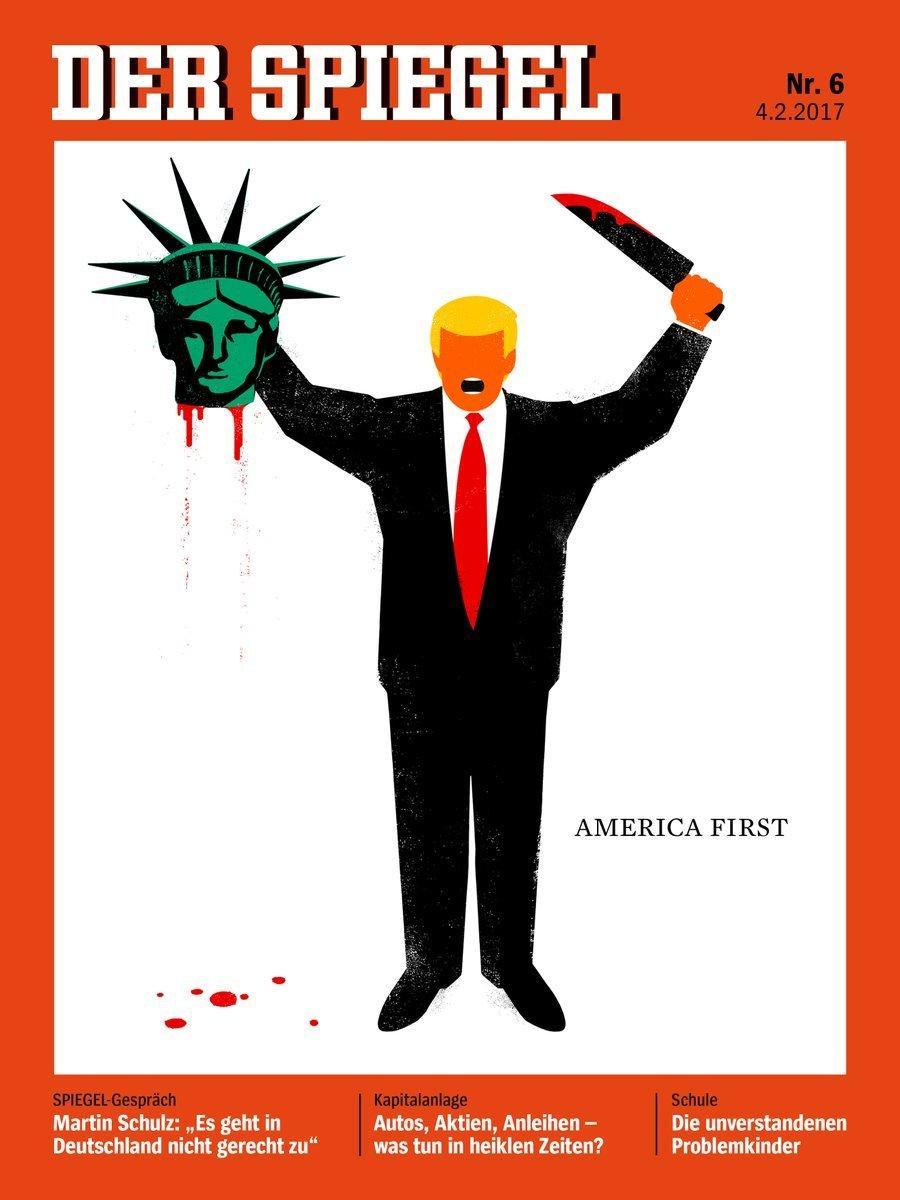 طرح جنجالی از ترامپ روی جلد مجله اشپیگل