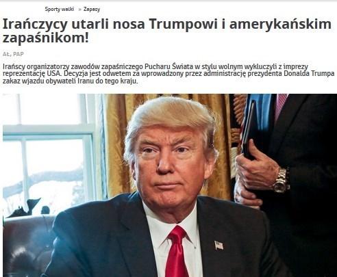 یک رسانه لهستانی:ایرانیهابینی ترامپ رابه خاک مالیدند