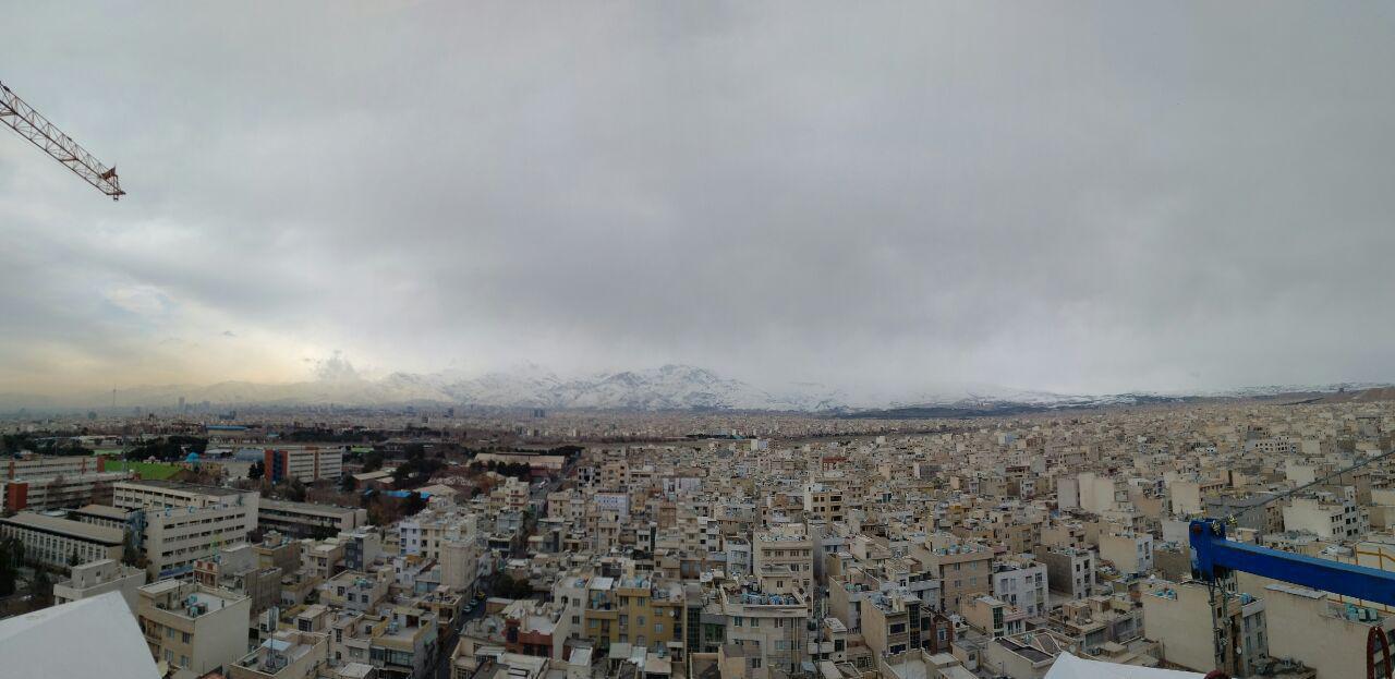 نمای تهران از سمت جنوب به شمال