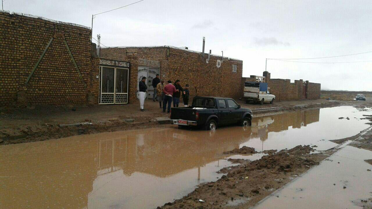 آب گرفتگی در روستای سعدالدین شهرستان خلیل آباد