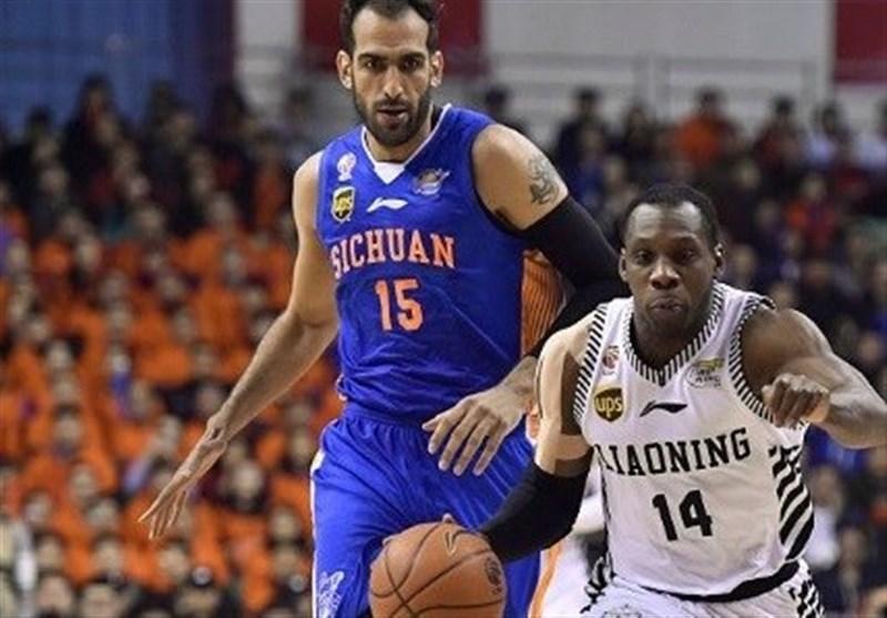 شکست لژیونرهای بسکتبال ایران درلیگ چین
