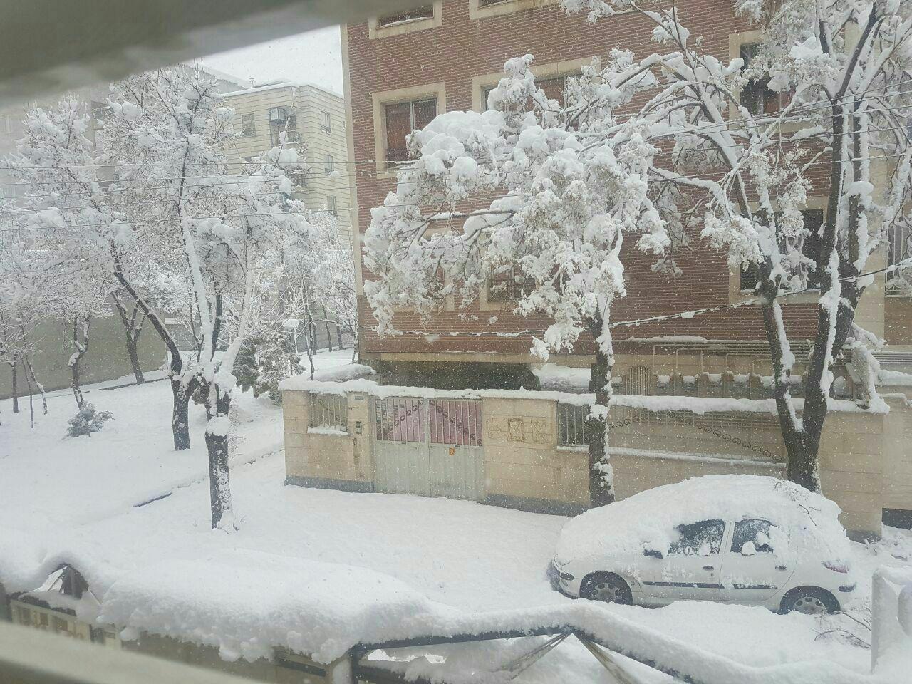 بارش سنگین برف هم اکنون  در اراک