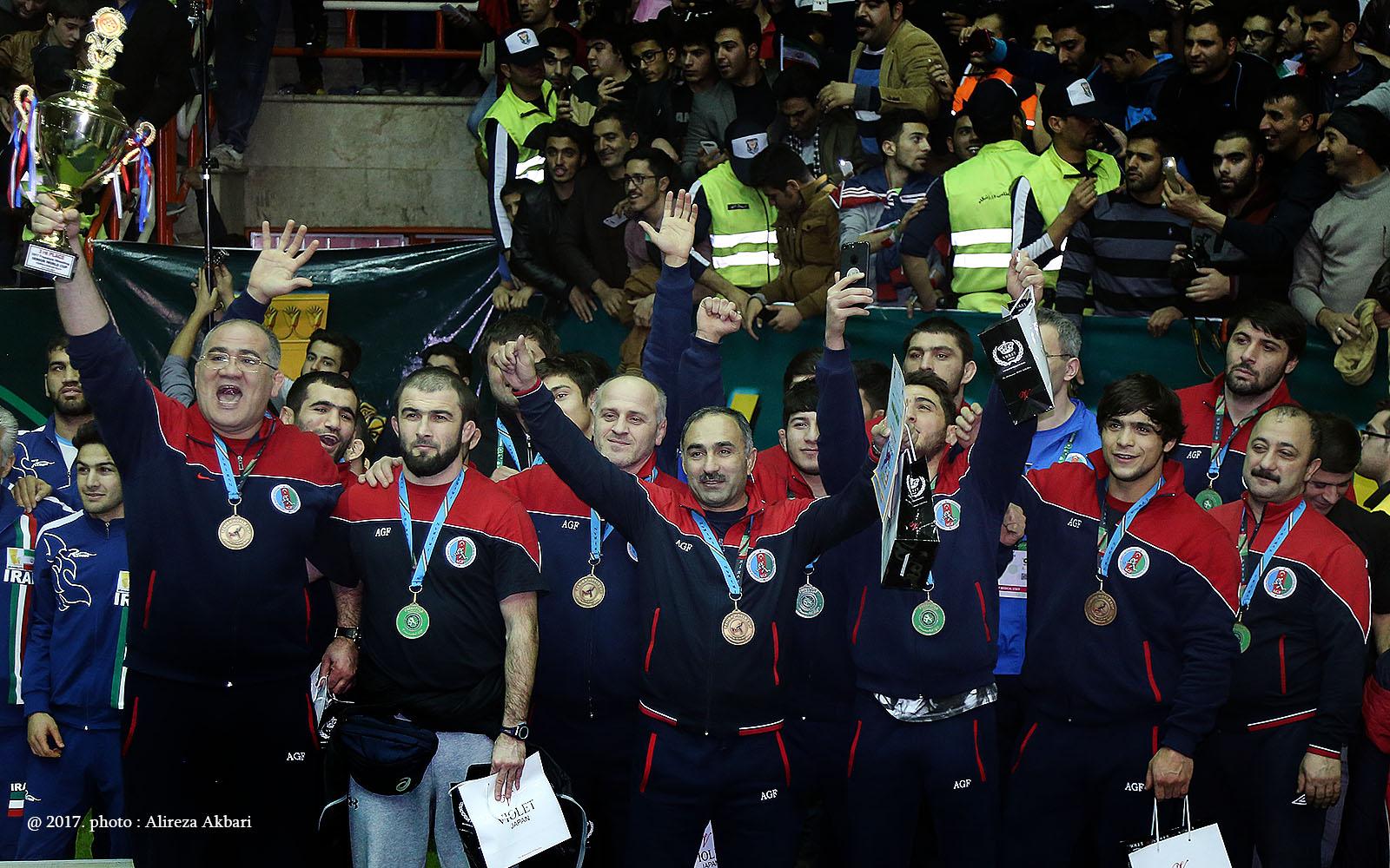 20 فریم از روز آخر جام جهانی کشتی کرمانشاه