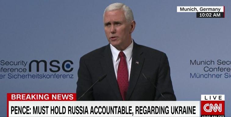 سخنان مایک پنس در کنفرانس امنیتی مونیخ علیه ایران