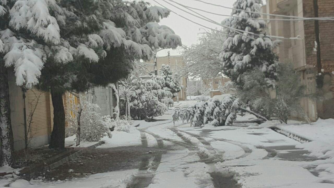 بارش سنگین برف در نیشابور