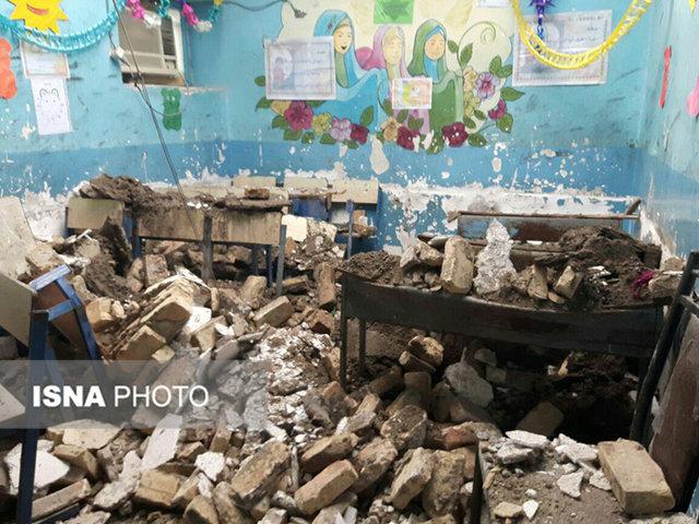 فرو ریختن سقف يك کلاس درس در شهرستان میناب