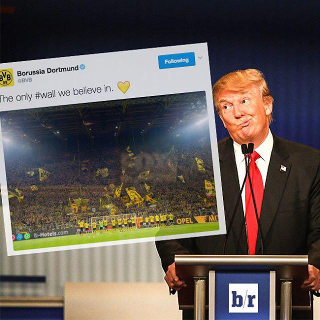 پاسخ پرهوادارترین تیم آلمان به ترامپ + عکس