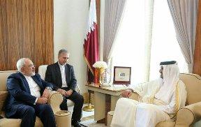 ظریف و امیر قطر دیدار و گفتوگو کردند