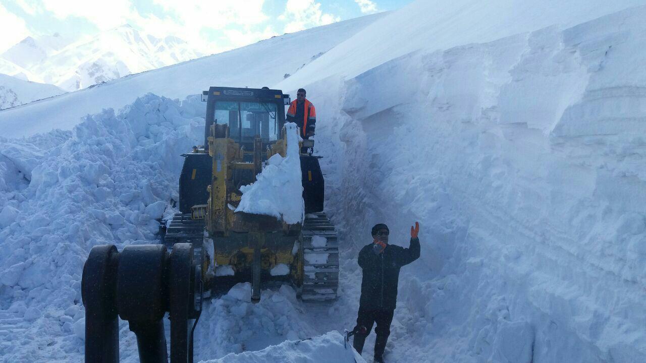 بارش برف در شهرستان الیگودرز