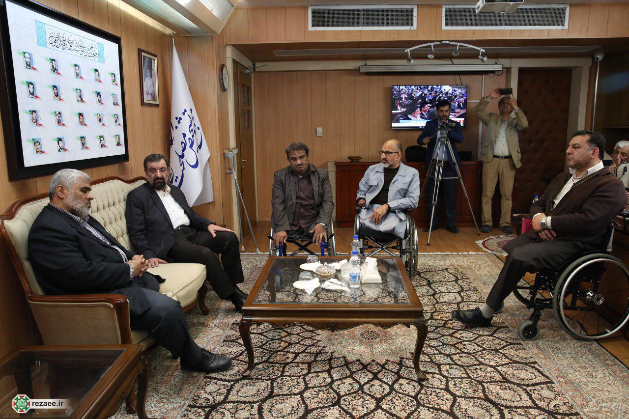 دیدار اعضای شورای انجمن های جانبازان با رضایی
