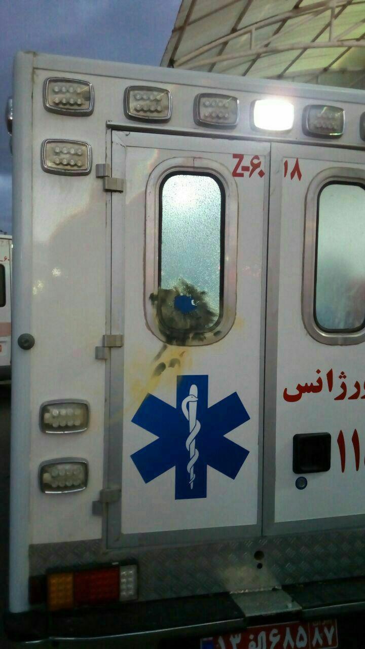 پرتاب نارنجک به خودروی آتشنشانی و آمبولانس