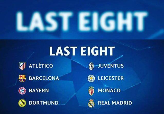 هشت تیم نهایی لیگ قهرمانان اروپا2017