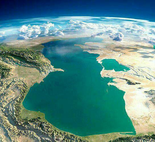 نمای هوایی و کمنظیر از دریای خزر