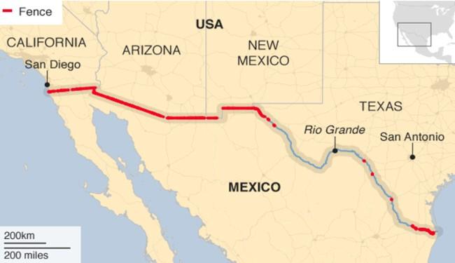 هزینه و زمان احداث دیوار مرزی آمریکا و مکزیک