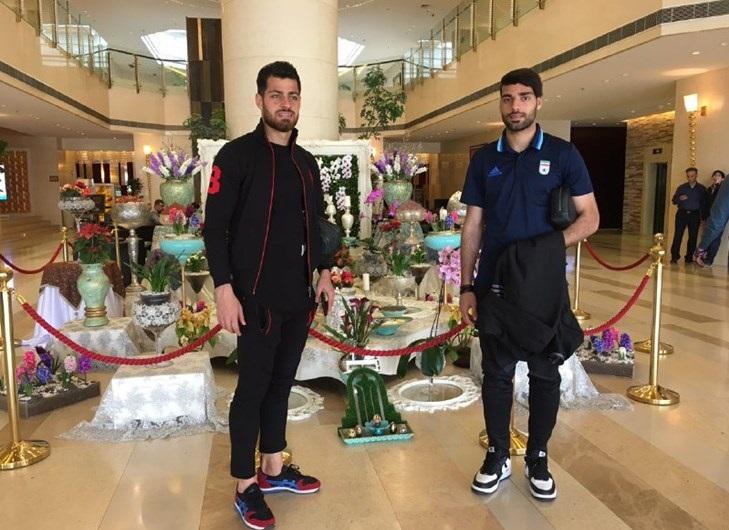 ستاره های تیم ملی پای سفره هفت سین+عکس