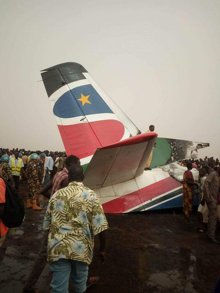 سقوط هواپیمای مسافربری در سودان