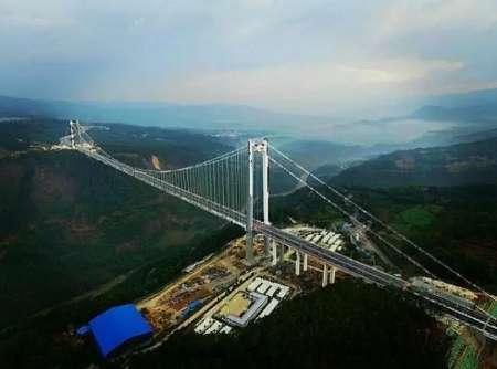 ساخت مرتفع ترین پل معلق آسیا در چین