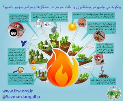 مقابله با آتشسوزی گسترده در جنگلها با اینفوگرافی!