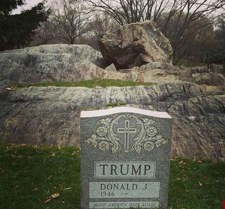 راز سنگ قبر ترامپ کشف شد