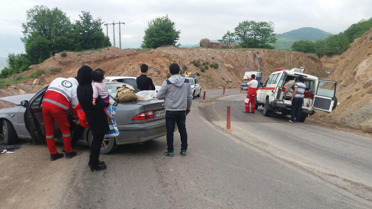 ساری؛ دو حادثه رانندگی با 6 زخمی