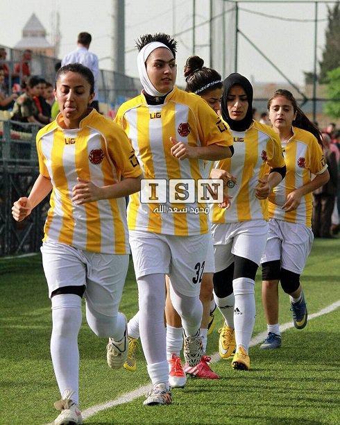 دختر ایرانی در یک تیم عراقی!