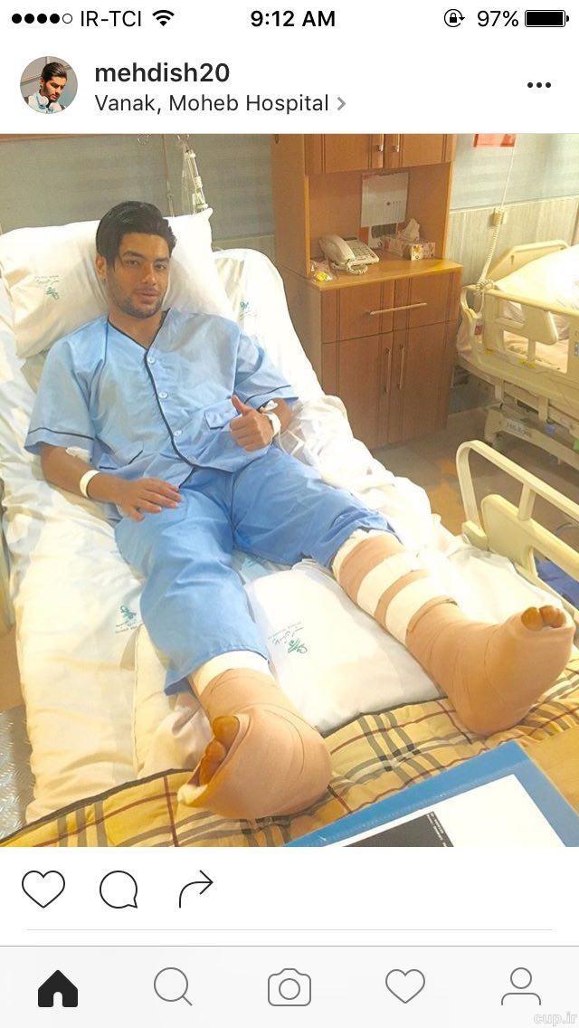مهاجم تراکتورسازی هر دو پایش را جراحی کرد!