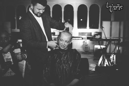 عروسی که به خاطر داماد سرش را تراشید