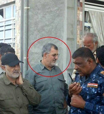 فرمانده نیروی زمینی سپاه در فلوجه