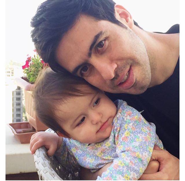جدیدترین تصویر از خسرو حیدری و دخترش
