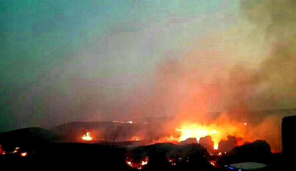 شهر باستانی «بیشاپور» دوباره طعمه آتش شد