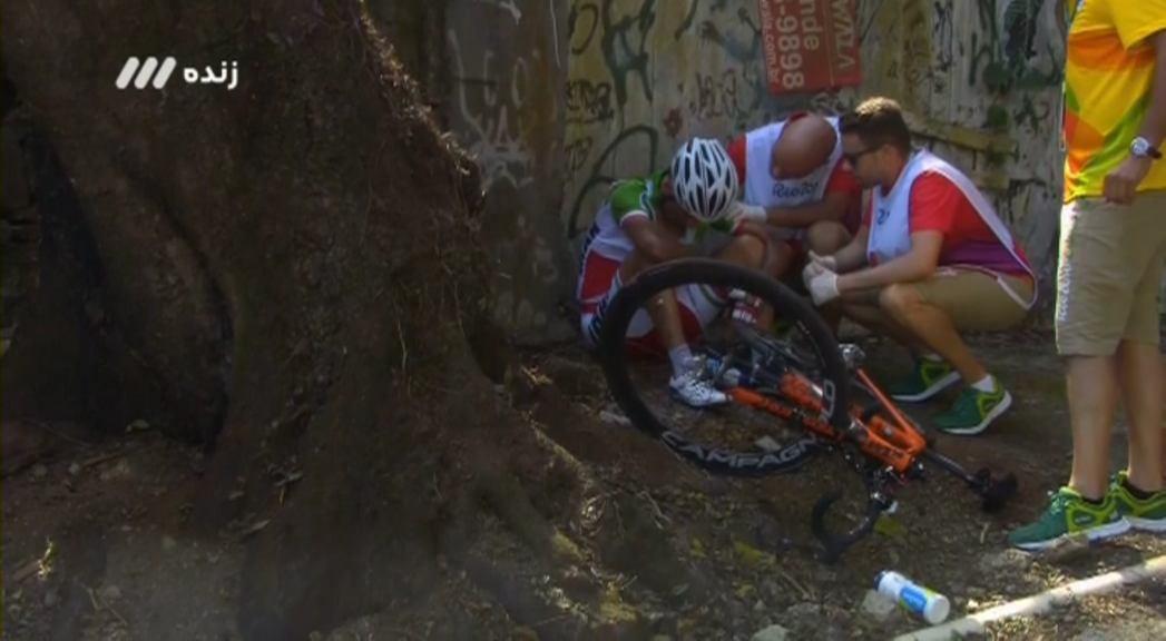 حادثه تلخ برای رکابزن ایران در المپیک